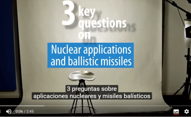 Nuclear applications and ballistic missiles
