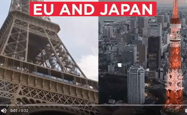 The EU and Japan sign a free-trade deal