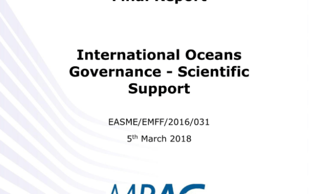 International oceans governance Scientific support : final report – Study