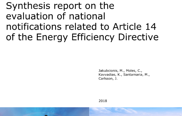 Synthesis report on the evaluation of national notifications related to Article 14 of the Energy Efficiency Directive