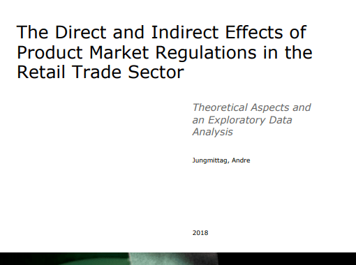 The direct and indirect effects of product market regulations in the retail trade sector
