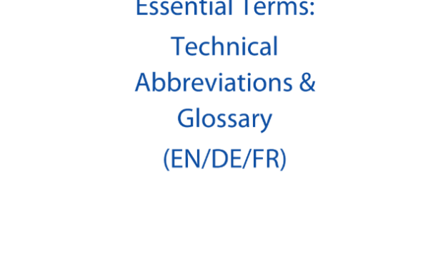 Banking union essential terms. Technical abbreviations & glossary (EN/DE/FR) : Study