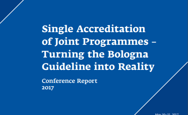Single accreditation of joint programmes