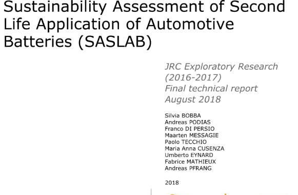 Sustainability Assessment of Second Life Application of Automotive Batteries