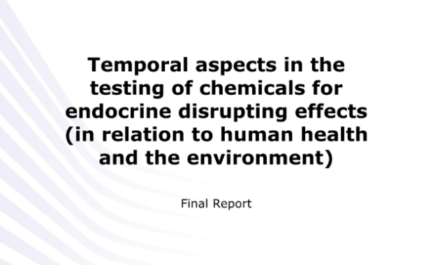 Temporal aspects in the testing of chemicals for endocrine disrupting effects (in relation to human health and the environment) Final report : Study