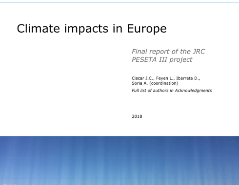 Climate impacts in Europe : final report of the JRC PESETA III project – Study