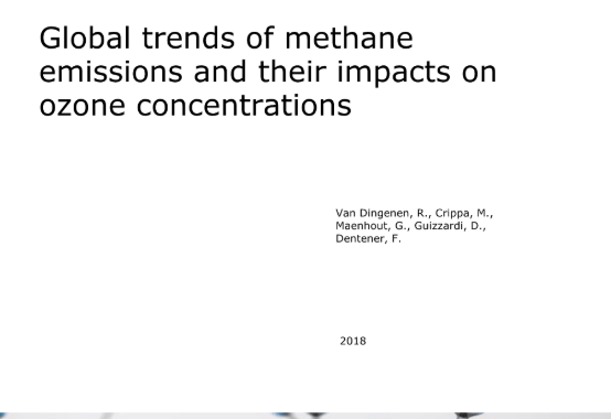 Global trends of methane emissions and their impacts on ozone concentrations: Study