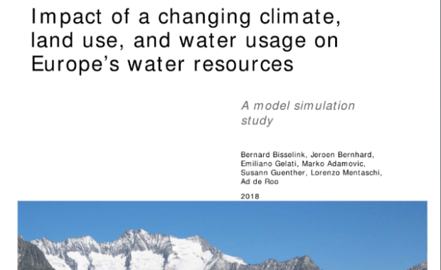 Impact of a changing climate, land use, and water usage on Europe's water resources. A model simulation study: Study