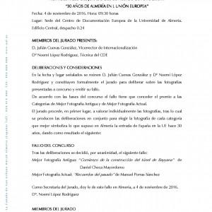 ACTAS Fallo Jurado concurso fotografía CDE 30 años
