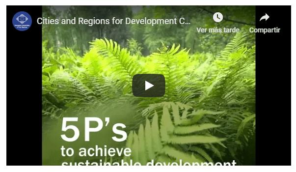 Ciudades y Regiones para el desarrollo sostenible
