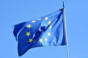 Bandera Unión Europea ondeando