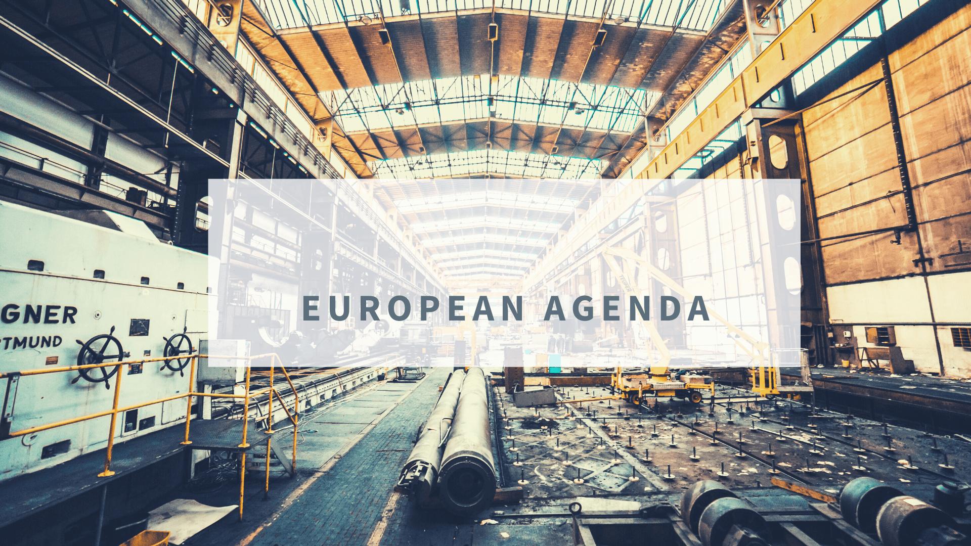 EUROPEAN AGENDA: Internal Market & Industry