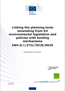 Linking the planning tools emanating from EU environmental legislation and policies with funding mechanisms